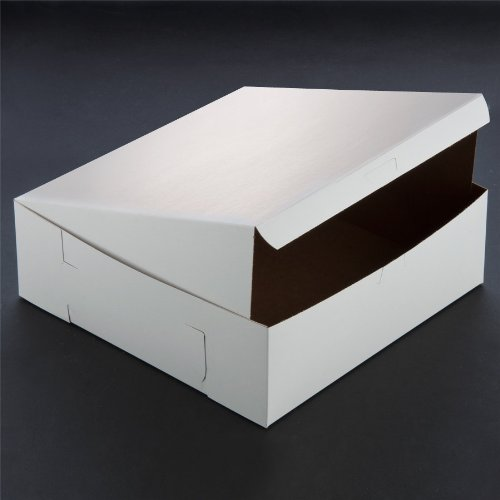 Lot of 10 Bakery or Cake Box WHITE 10x10x4