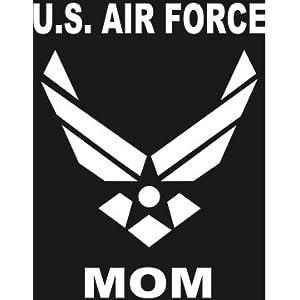 U.S. AIR FORCE MOM Wings logo white window sticker
