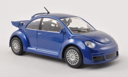 VW-New-Beetle-RSI-met-blau-Modellauto-Fertigmodell-Bburago-124