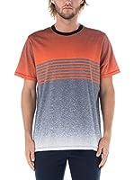Nike Hurley Camiseta Manga Corta Flight Crew (Naranja / Gris)