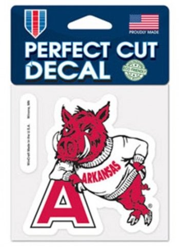 NCAA University of Arkansas Razorbacks 4x4 Perfect Cut Decal (Arkansas Decal compare prices)