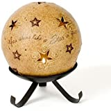 Comfort Candles Shining Star by Pavilion Tea Light Candle and Stand, 6-1/2-Inch, Star Pierced Round