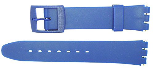 New 17mm (20mm) Sized Replacement Strap, Compatible for Swatch® Watch - Blue