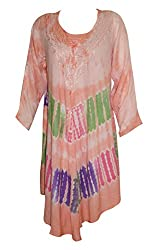 Indiatrendzs Women's Rayon Maxi Dress Boho Tie Dye Multicolor Causal Dresses