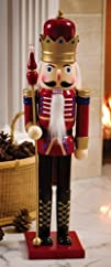 Collections Etc  26 Holiday Wooden Toy Soldier Nutcracker