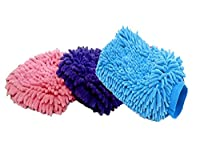 Autowizard Microfiber Glove Mitt For Car Cleaning Washing Set Of 3
