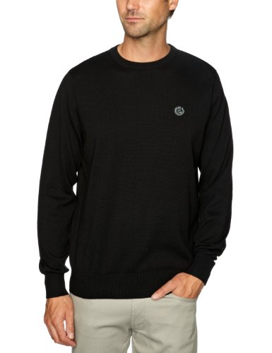 Henri Lloyd Moray Crew Knit Men's Jumper Black Medium