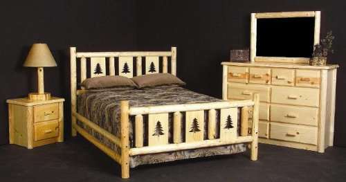 Viking Log Furniture Montana Bed Panel Bed