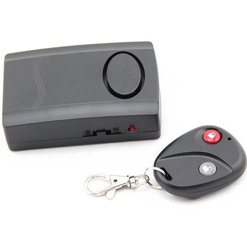 Burglar Alarm 120dB Vibration Activated Anti-Theft Security Alarm with Remote Control Keychain for Door,Window,Safe