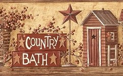 Country bath wallpaper border - Country wallpaper borders for bathrooms ...