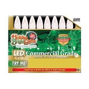 Holiday Bright Lights Ledbx-C935-Ww Christmas Hanging C9 Led Light Set, Warm White