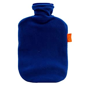 FASHY 6530 Thermoplast-Wärmflasche + Bezug, 2,0l