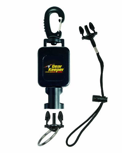 Gear Keeper RT4-5913 Compact Console Retractor Large Heavy Duty Snap Clip Mount with Q/C-II Split Ring and Lanyard Accessory (Scuba Console compare prices)
