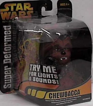 Star Wars Revenge of the Sith Super Deformed Chewbacca Figure - 1