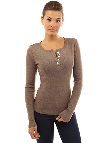 PattyBoutik-Womens-Henley-Buttons-Ribbed-Top