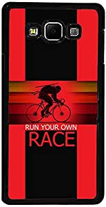 PrintVisa D8098 Sports Race Back Cover for Samsung Galaxy E5