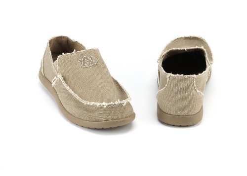 NCAA Auburn Tigers Slip-On Santa Cruz Loafer Men's Shoe By Crocs, Khaki, 8 at Amazon.com