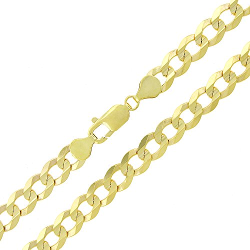 14k-Gold-Mens-Womens-8mm-Solid-Cuban-Curb-Link-Chain-Necklace-20-22-24-26-22