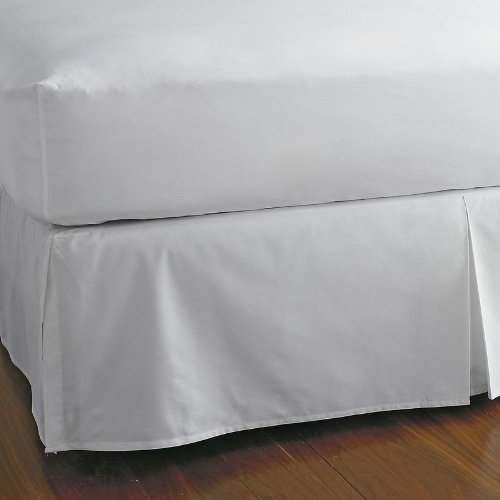 "300 Thread Count 100% Egyptian Cotton Solid White King / California King 22"" Drop Length Bed Skirts"