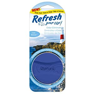 Refresh Your Car Odor Eliminating Scented Ceramic Stone Under the Seat Car and Home Air Freshener, Cool Breeze Scent