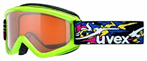 Uvex Speedy Pro Junior Ski Goggle (Apple Green Frame, UV Gold Lens)
