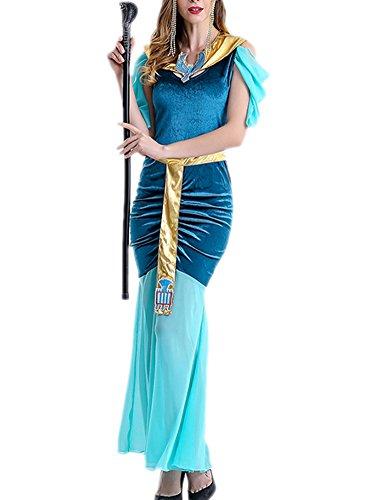 RedExtend Women's Halloween Costume Arab & Egypt Princess Cosplay Long Dress + Headdress (Blow Pop Adult Costume)