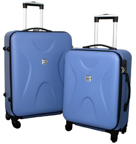 Trolley-Koffer-Set - 2-teilig - HELLBLAU - Superleicht