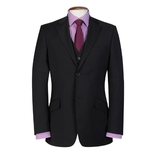 Brook Taverner Avalino Black Machine Washable Two Piece Suit - Size 42 Long