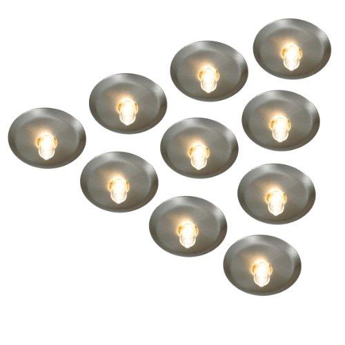 Naeve Leuchten Halogen Sternenhimmel / 10 Halogeneinbauspots / 10 Leuchtmittel G4 / 10 Watt / 12 V / Trafo - 105 VA, metall blank 430550