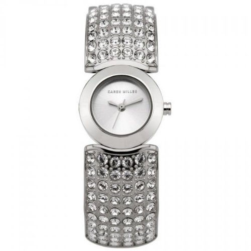 Karen Millen K112 Ladies All Silver Watch