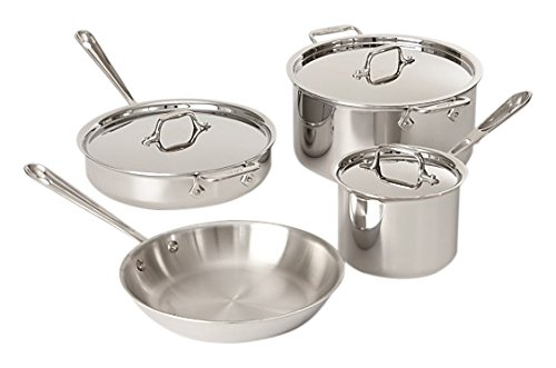 All-Clad Tri-Ply Stainless Steel 7 Piece Cookware Set (Iron Clad Pots And Pans compare prices)