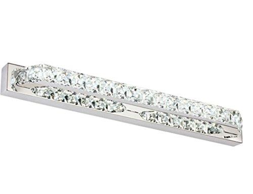 Lightess Crystal Bathroom Light Fixtures Led Bath Vanity Wall Sconces, 10W  Cool White