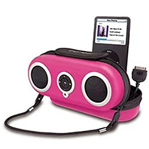 SDI iHome iH13NP Protective Speaker Case - Portable speakers with digital player case - pink