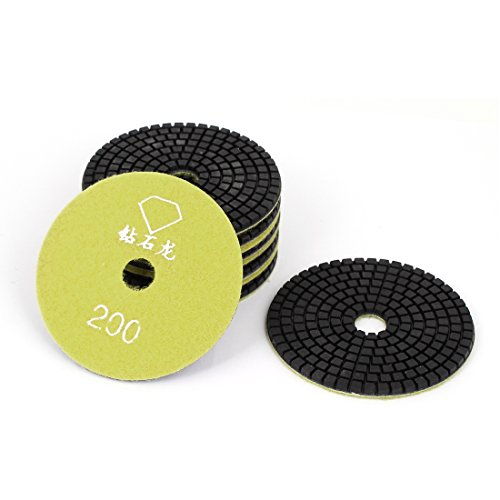 sourcingmapr-granite-marble-200-4-inch-dia-wet-diamond-polishing-pads-yellow-10pcs