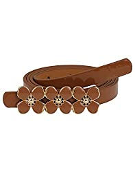 Aadi & Sons Artificial Leather Brown Women Belt