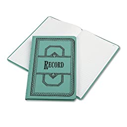 Account Book, Record-Ruled, 150 Pages, 12-1/8 quot;x7-5/8 quot;, Blue