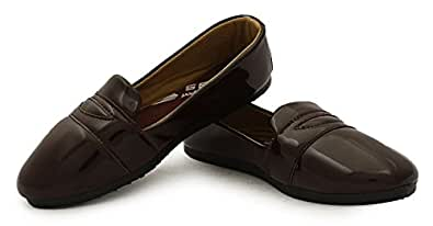 Globalite Women's Casual Shoes Pattent Brown GSC0770 UK/IN-4