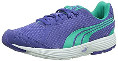 Puma Descendant Jr, Unisex-Kinder Laufschuhe, Blau (blue iris-pool green 11), 32 EU (13 Kinder UK)