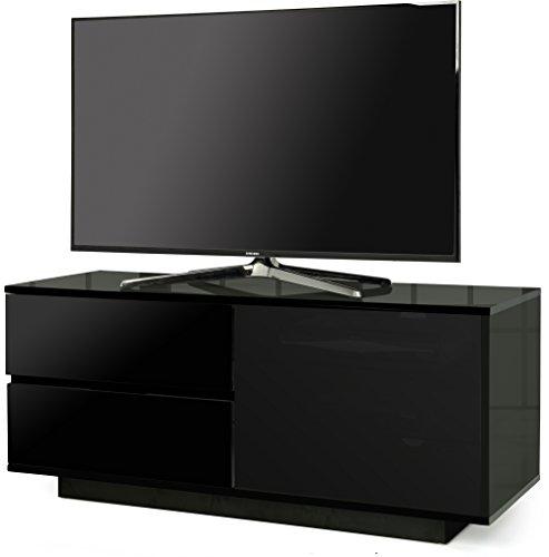 """Centurion Supports Supports GALLUS ULTRA remoto amichevole BeamThru nero lucido con 2 cassetti nero 26 """"-55"""" TV a schermo piatto Governo"""