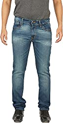 Hunter Men's Slim Fit Jeans (HRIPL003_Blue_28)