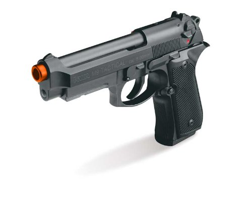 KWA Full Metal M9 Tactical PTP Airsoft Pistol Gas Blowback + Free G&G 3000 Rds 0.25g BBs