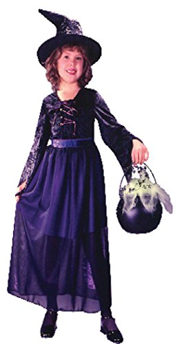 Girls Storybook Witch Vel Kids Child Fancy Dress Party Halloween Costume