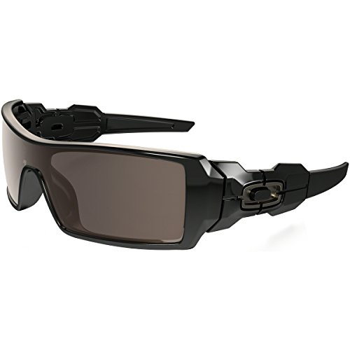 Oakley Oil Rig Men's Lifestyle Sports Wear Sunglasses/Eyewear - Color: Polished Black/Warm Grey, Size: One Size Fits All (Oakley Oil Rig Polarized compare prices)