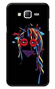 "Humor Gang Multicolored Hair Printed Designer Mobile Back Cover For ""Samsung Galaxy On7"" (3D, Glossy, Premium Quality Snap On Case)"