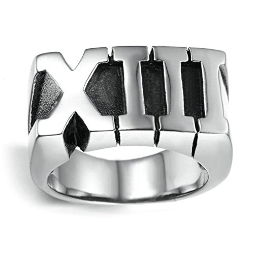 Stainless Steel Ring for Men, Alphabet