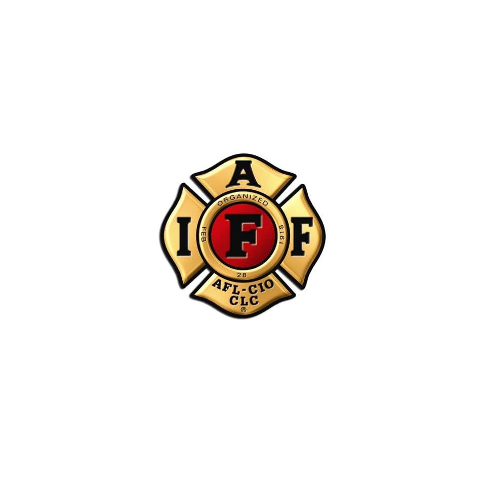 GOLD IAFF Firefighter Logo Sticker on PopScreen