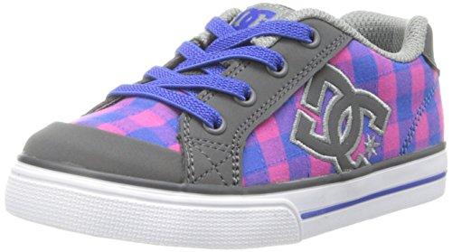 Dc Chelsea Skate Shoe (Toddler),Pink/Dark Grey,7 M Us Toddler front-840805