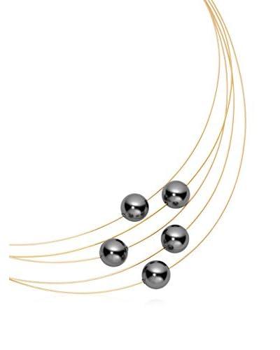 steel art Collar Linea 5 Dorado