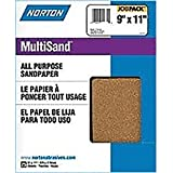 Norton 68109 9-Inch X 11-Inch 80D Multi Sand, 25-Pack
