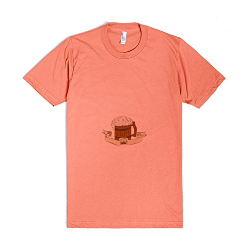 Medieval Beer Mug Foam Drawing | 2XL Coral T-Shirt (Beer Mugs Medieval compare prices)